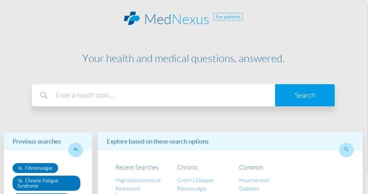 Looking for a good source of reliable, trustworthy health information? Then you'll want to check out my review of MedNexus, a medical search engine that's designed just for patients. http://fedupwithfatigue.com/reviews/mednexus-review/