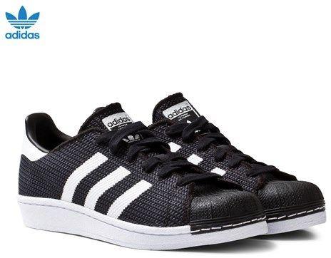 Black and White Mesh Junior Superstar Trainers. adidas ...