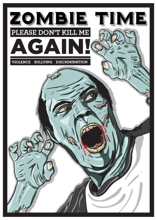 Story of zombie by luigi oriza, via Behance