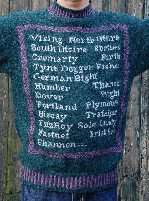 Look, I said I liked the shipping forecast but not so much that I wanted it on my chest! shipping forecast by Theo Wright,