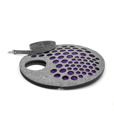 Grey/purple felt handbag PURPLE STRAINER | SoLime  www.solime.com.au
