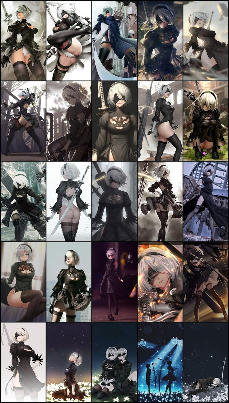 Nier Automata 2b Wallpaper Pack For Android Mobile Phone Part