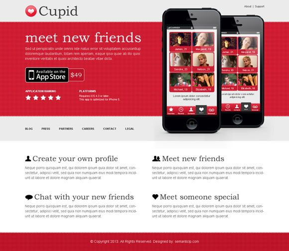 App landing page design example for inspiration to boost your conversion rate.   High Converting Landing Page Design Blog