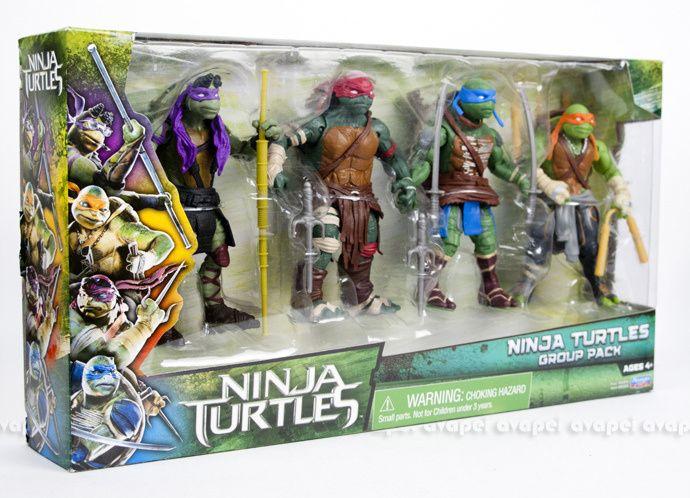 New Images: Teenage Mutant Ninja Turtles Van And Movie Action Figure 4 Pack