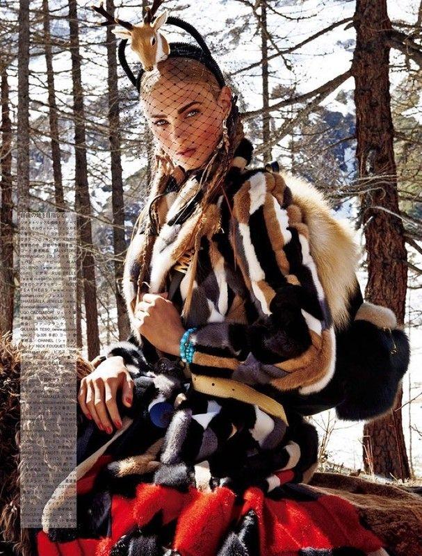 Anna Selezneva By Giampaolo Sgura For Vogue Japan November 2015: myfashion_diary
