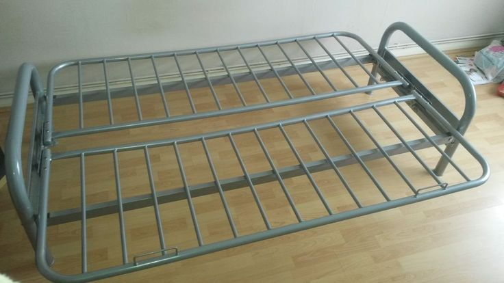 Double metal futon sofabed frame. Silver. Futon base. Frame only in Home, Furniture & DIY, Furniture, Sofas, Armchairs & Suites   eBay