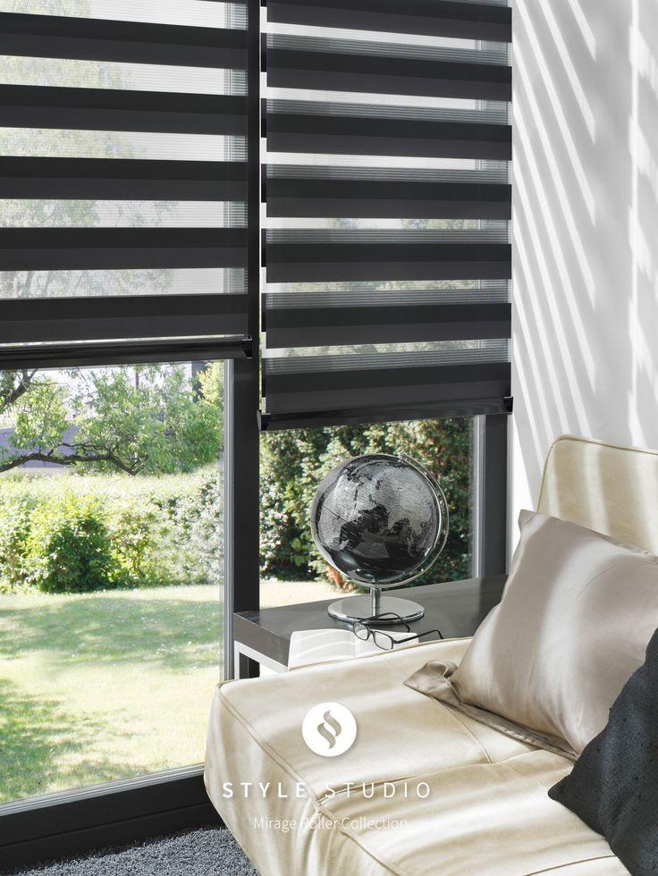 Lustre Graphite Style Studio Mirage Roller Blind