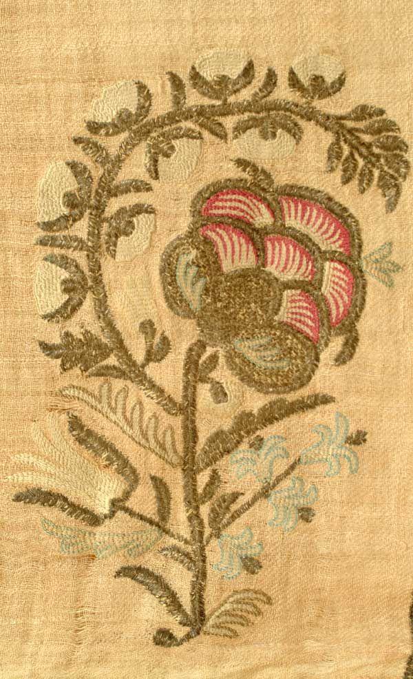 "Ottoman Ritual Towel - Ottoman Empire, 19th c., silk and metal thread on linen, good condition, 32"" x 59"""