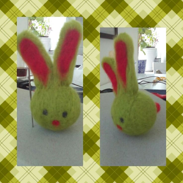 I made a felted little rabbit to my sweet friend :)