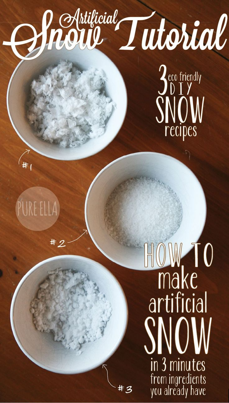 Snowing christmas decoration let it snow - How To Make Artificial Snow 3 Quick Easy Eco Friendly Recipes