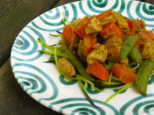 Chicken w/ Snap Peas & Carrots (*Use homemade carrot puree & chicken ...
