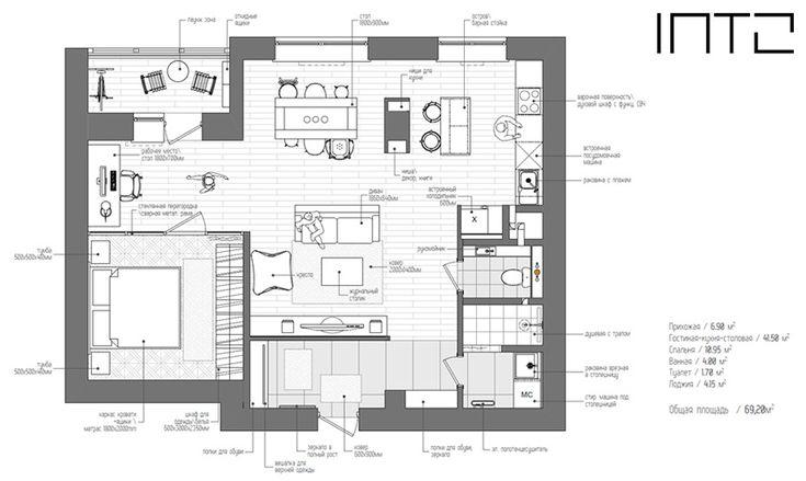 俄羅斯 20 坪現代風單身公寓 - DECOmyplace