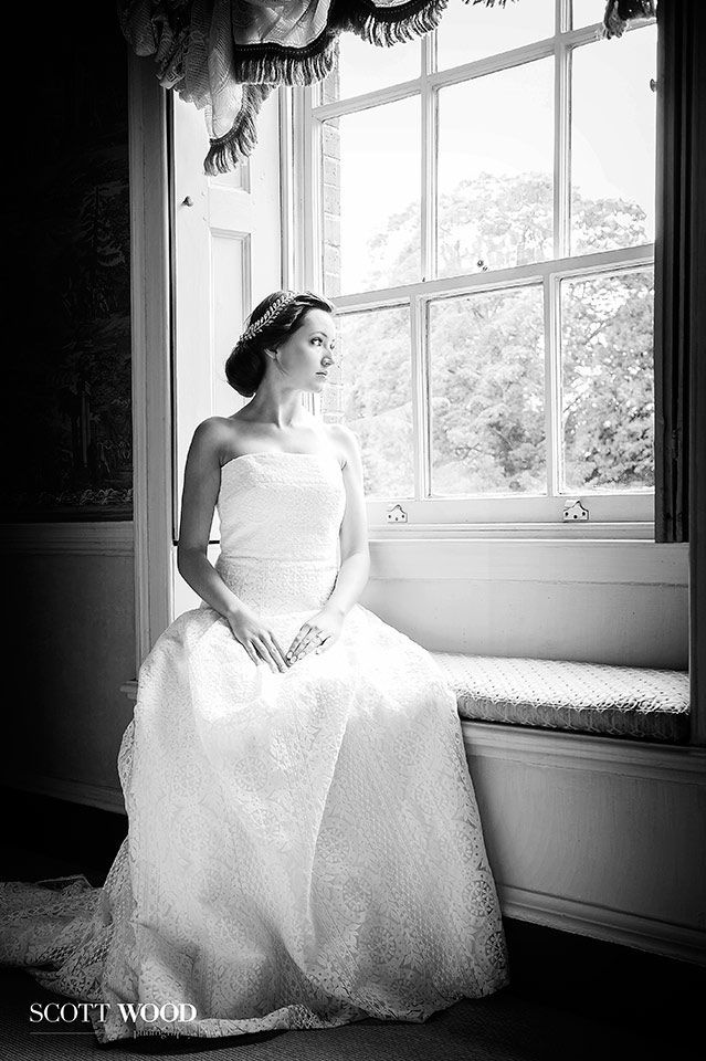 Aristocratic style elegance in Jesus Peiro at Island Hall, Cambridgeshire. This was a great shot to capture as late afternoon sun flooded the room with beautiful soft light.