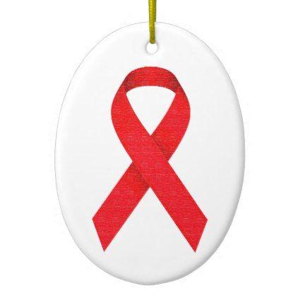 MyPride365 - AWEAR - AIDS Ribbon Ornament - holidays diy custom design cyo holiday family