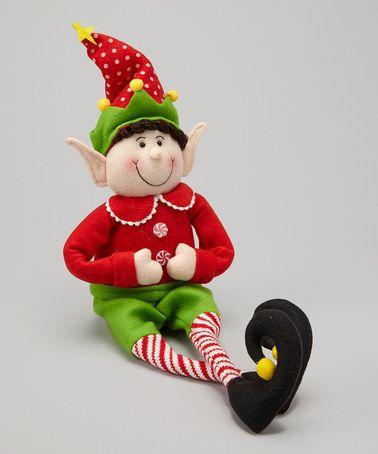 Look what I found on #zulily! Red Top Felt Elf Figurine #zulilyfinds