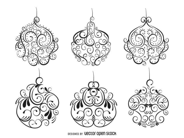 New white christmas ornament vector at temasistemi.net