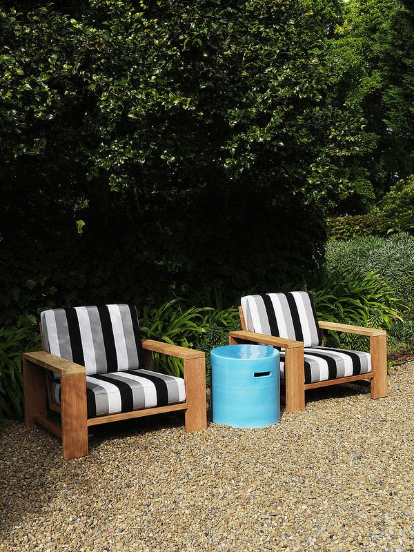 Maxi Armchairs and Southie Side Table by Robert Plumb