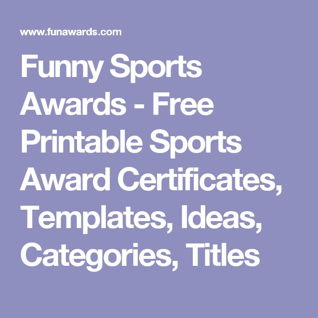 Funny sports awards free printable sports award certificates templates ideas categories for Baseball award ideas