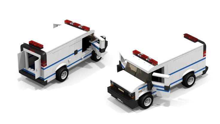 custom lego city chevrolet police van