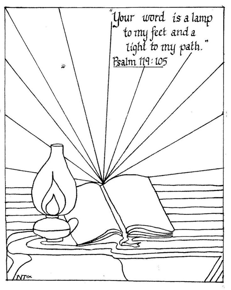Psalm 119:105 coloring page | Sunday school | Pinterest ...