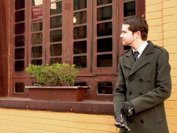 The Whitman Vegan Eco-Friendly Long Winter Pea Coat by Vaute Couture - The Ethical Man - Expert Style Resource and Vegan Fashion Shop for Men