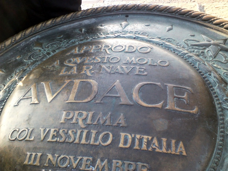 Trieste, Italia, molo Audace