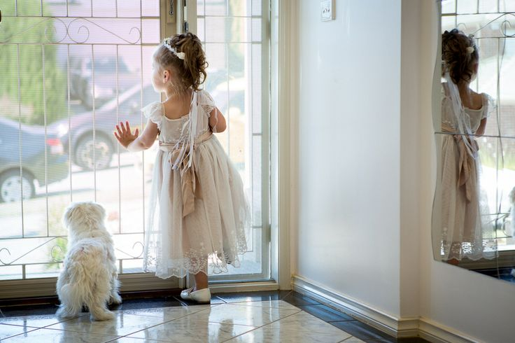 Flower girls and puppy dogs