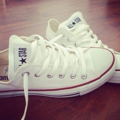 There are 8 tips to buy these shoes: white converse all star red laces low  top blouse sneakers chuck taylor all stars white converse white style  pretty ...