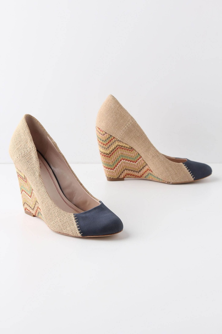 Fun: Wedges Heels, Chevron Wedges, Style, Wedges Anthropology, Flats Shoes, Anthropologie Com, Wear, Chevron Shoes, Stitches Chevron