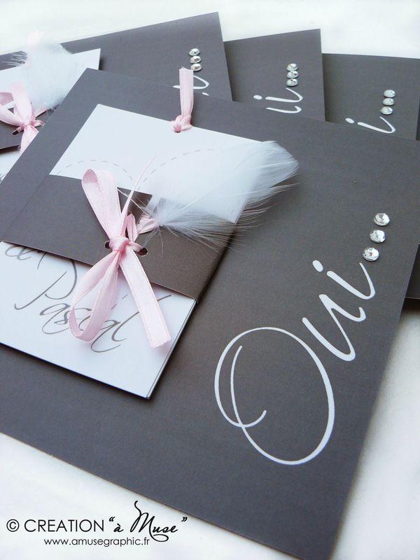 Très Carte invitation mariage strass – Votre heureux blog photo de mariage UF47