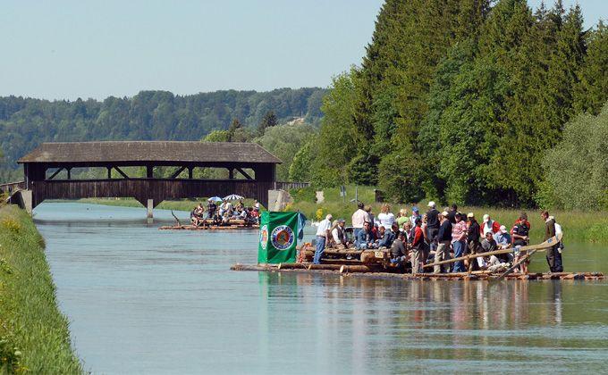 Floßfahrt auf Loisach und Isar - Flößerei Josef Seitner