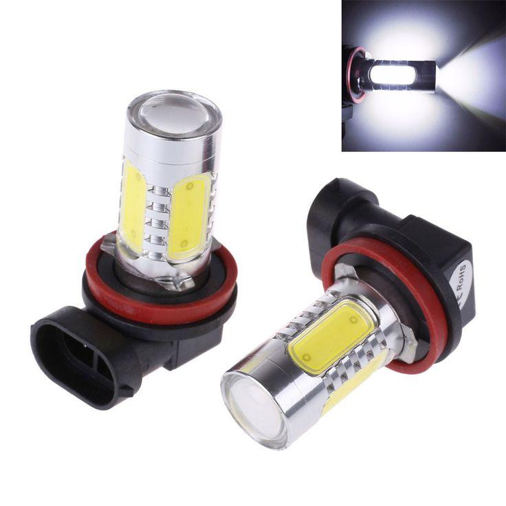 2 Unids/lote H11 de Alta Potencia de 7.5 W COB Bombilla LED Car Auto DRL Que Conduce la Lámpara de la Niebla de La Linterna del Proyector Fuente de Luz 12 V DC