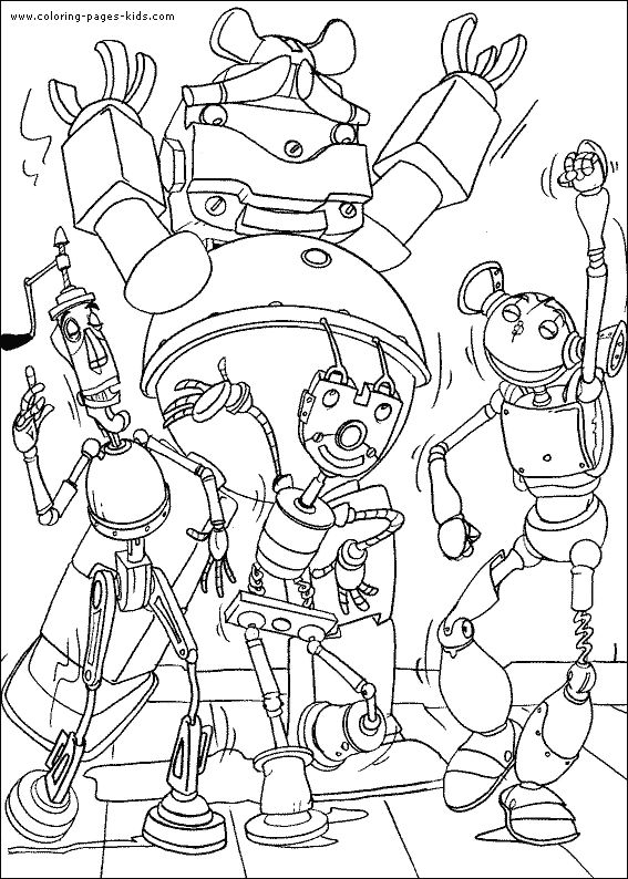Robots Characters Coloring Pages For Kids Printable Free