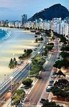 Пляж Копакабана, Рио-де-Жанейро, Бразилия  #traveljay #тур #Рио-де-Жанейро #Бразилия