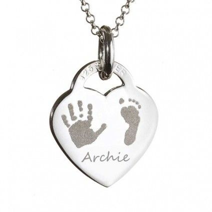 Engraved Heart necklace - perfect for Mother's day