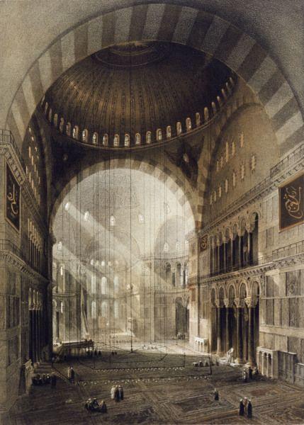 Image: Gaspard Fossati - Constantinople , Hagia Sophia