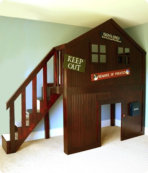 treehouse bed | ... original inspiration came from the Eli Fort Bed from Pottery Barn Kids