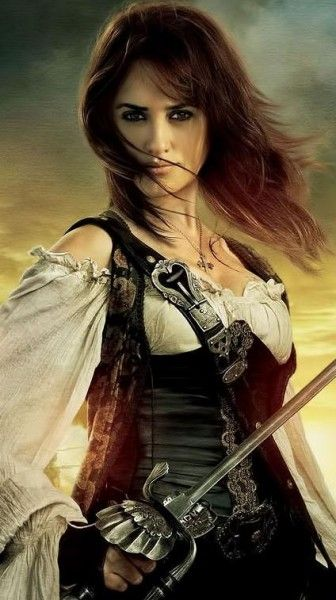 Penélope Cruz as Angelica Teach in The Pirates of the Caribbean: On The Stranger Tides.