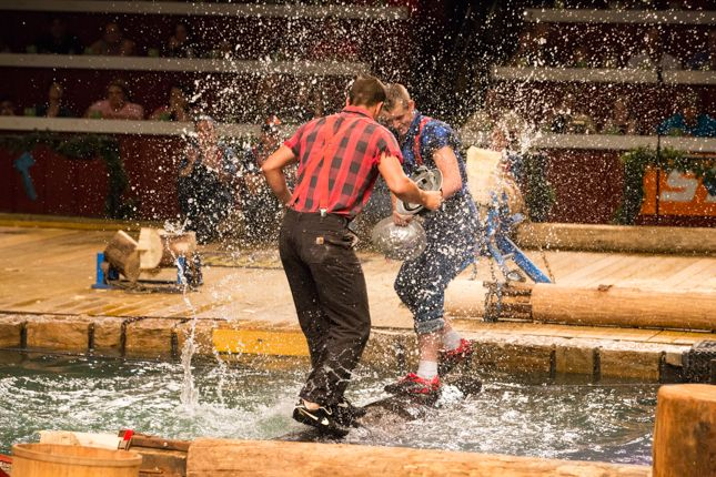 LumberJack Feud. Easily one of the highest intensity shows of Pigeon Forge. A must-see for the whole family!