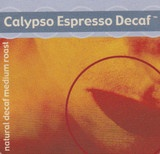 Our Calypso decaf espresso is 100% Colombia natural water processed. This decaf is medium-bodied, with sweet chocolate and walnut flavour notes and a smooth, buttery mouthfeel.  The great flavor...