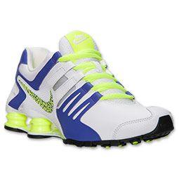 Women's Nike Shox Current Running Shoes | Finish Line | White/Hyper Grape/ Black