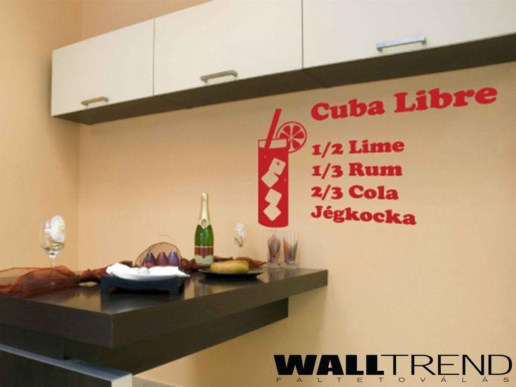 W 0413 Cuba Libre faltetoválás - WALLtrend - faltetoválás, falmatrica, faldekoráció