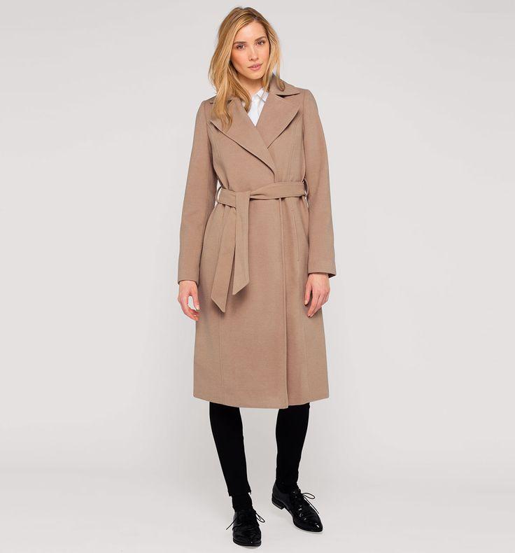 Sklep internetowy C&A | Dopasowany płaszcz, kolor:  beżowy | Dobra jakość w niskiej cenie