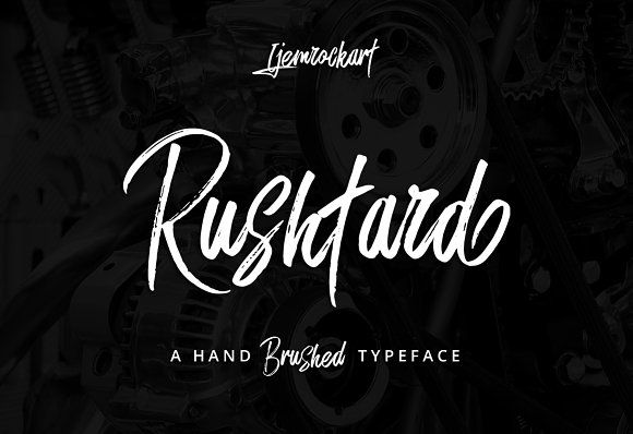 Rushtard Brush by Ijemrockart on @creativemarket