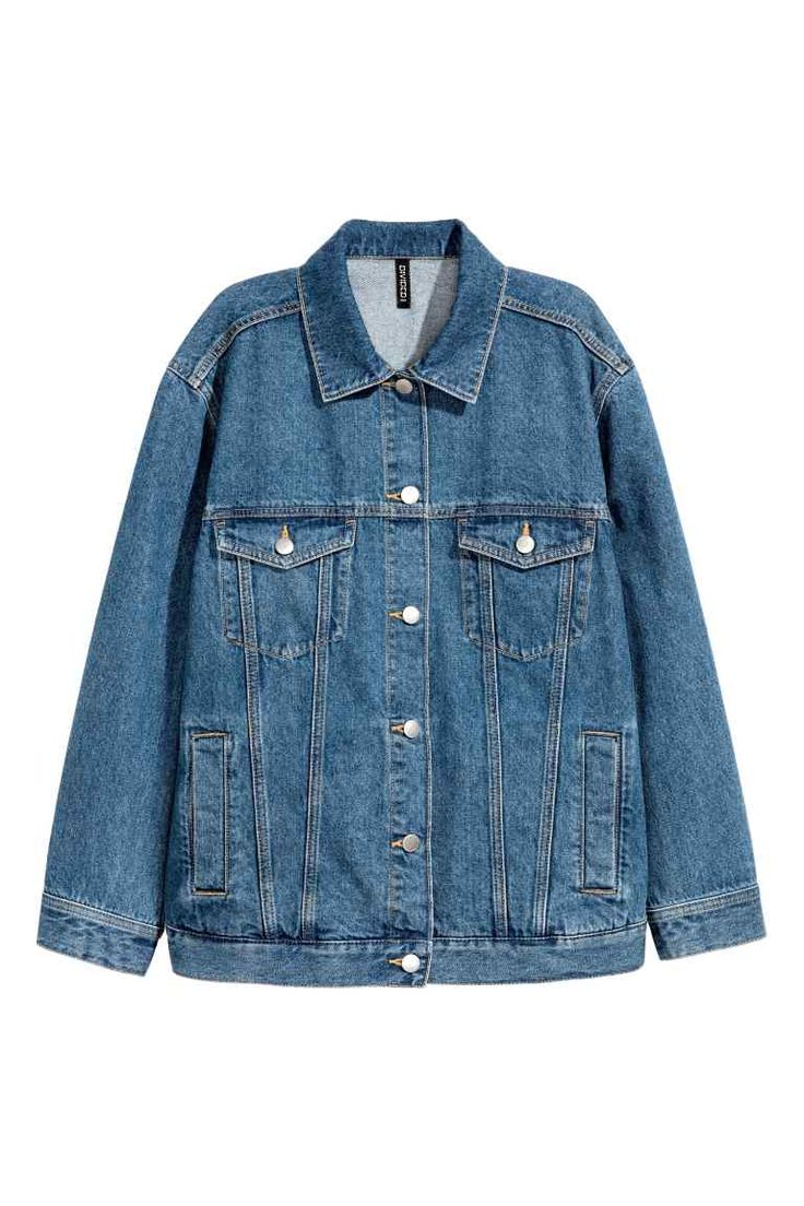 Dżinsowa kurtka - Ciemnoniebieski denim - ONA | H&M PL