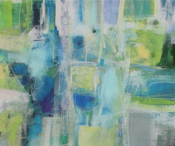 Pastel abstract by Jennifer Gardner