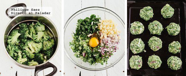 el perejil, el queso y el brócoli. Colocamos  dos huevos. Sazonamos con sal y pimienta. Añadimos ahora el pan molido y volvemos a revolver bien todoHorneamos, a 180ºC, por unos30 a 35 minutos.