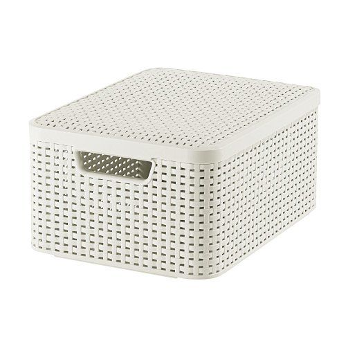 Curver Style 205848 Storage Box Rattan Look Size M with Second-Generation Lid Polypropylene Curver http://www.amazon.co.uk/dp/B0084DMYE0/ref=cm_sw_r_pi_dp_XEuIwb077S9E6