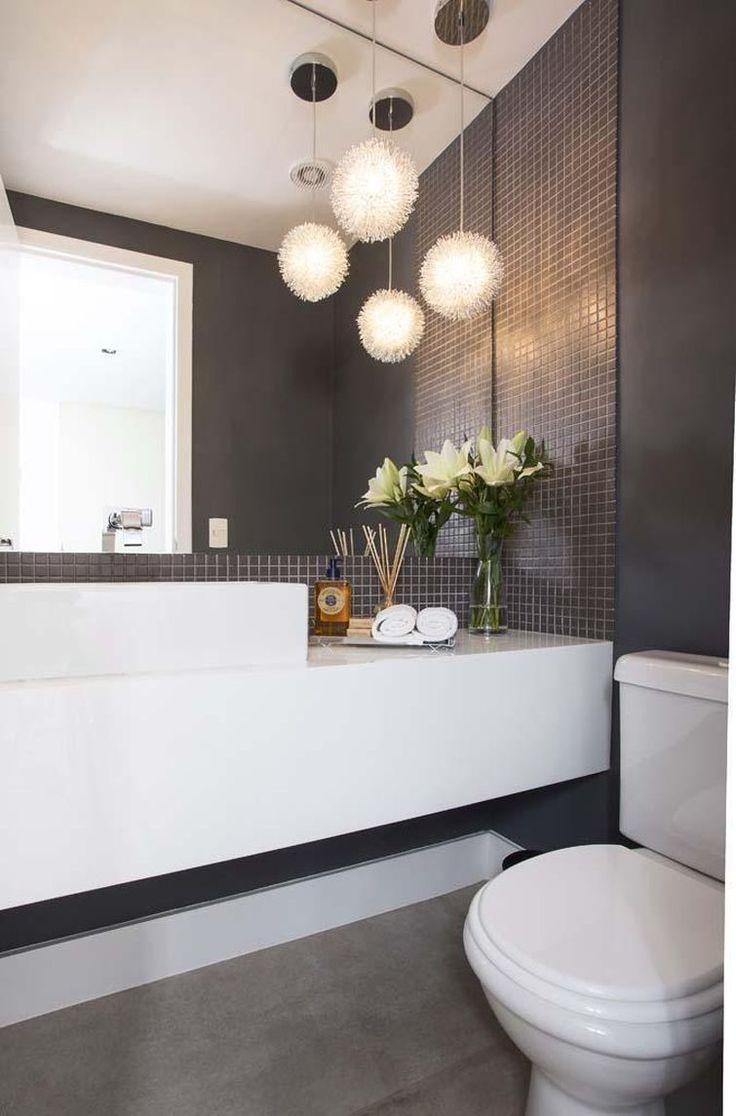 +1000 ideias sobre Cuba Quadrada no Pinterest  Escorredor Inox, Banheiros Pe -> Decoracao De Banheiro Com Louca Preta