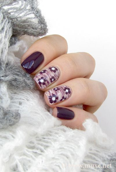 Nail Art - I love this but I think I'd stick to one nail and probably without the flowers. Just my own personal taste.